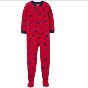 Carter's Big Boy 1-Piece Sports Fleece Footie PJs